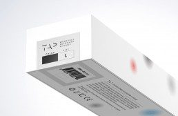 white packaging for the tap wireless keyboard