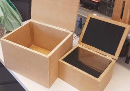 MDF boxes for soundproofing