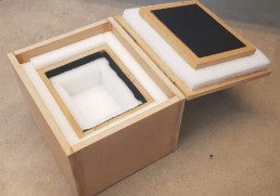 open box showing box within a box soundproofing concept